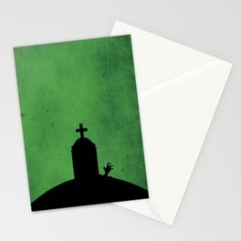 """Zombie Grave"" Halloween Poster Stationery Cards"