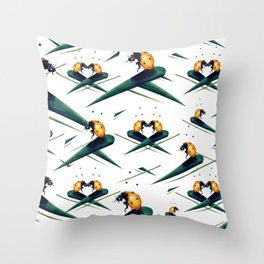 Bugs in Love (Pattern) Throw Pillow