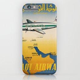 retro Iraqi Airways iPhone Case