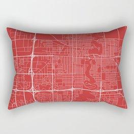 Fargo Map, USA - Red Rectangular Pillow