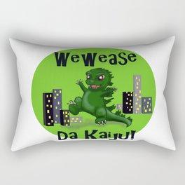 """Baby Godzilla """"Wewease Da Kaiju!"""" Rectangular Pillow"""