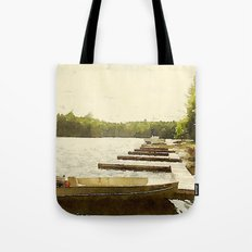 Lily Bay Docks, Maine Tote Bag