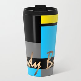 Lady Boss , turquoise ,lemon Travel Mug