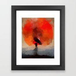 umbrellaliensunshine: atomicherry winter! Framed Art Print