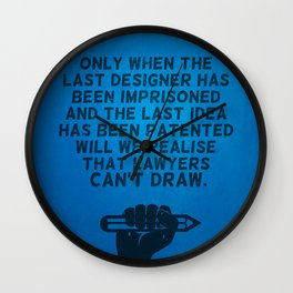 Lawyers can't draw ! Wall Clock