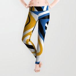 Blue & Yellow Craze Leggings