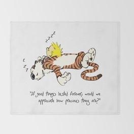 Calvin And Hobbes Sleep Throw Blanket