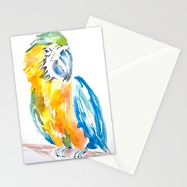 Parrot watercolour painting Stationery Cards