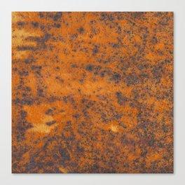 Vintage metall rust texture - Orange / red pattern Canvas Print