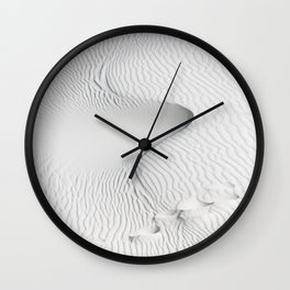 Snake - Abstract Designs in White Sands Desert in New Mexico Wall Clock