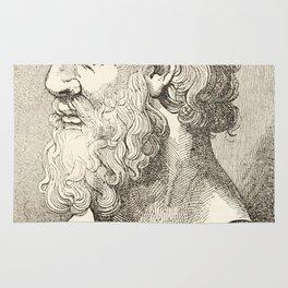 Vintage Plato The Philosopher Illustration Rug