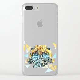 Bumblebee Low Poly Portrait Clear iPhone Case
