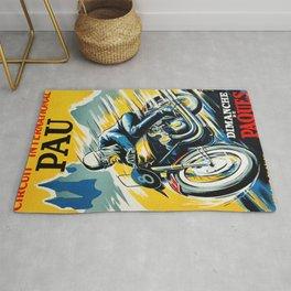 Grand Prix de Pau, Race poster, vintage motorcycle poster, retro poster, Rug