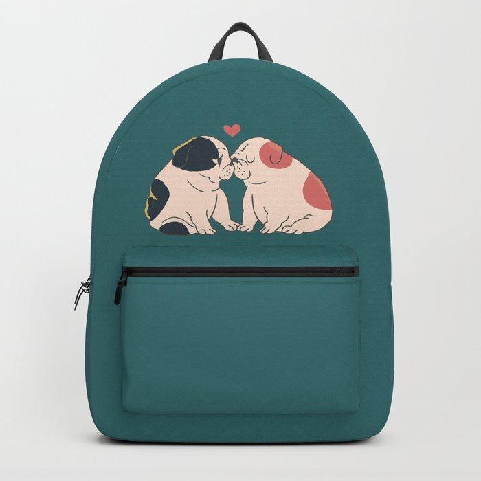 English Bulldog Kisses Backpack