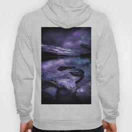 Magical Mountain Lake Purple Teal Hoody