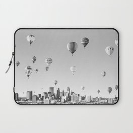 Another Minneapolis, Minnesota Skyline with Hot Air Balloons Over the City Laptop Sleeve