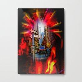 Christmas Shopping New York Metal Print