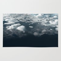 ice Area & Throw Rugs featuring Ice by 83 Oranges™