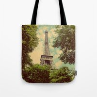 postcard Tote Bags featuring Postcard by Emma.B