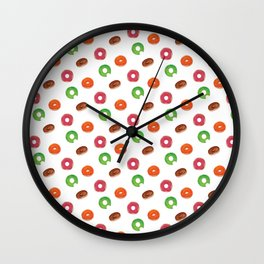 Donut Pattern Wall Clock