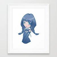 selena gomez Framed Art Prints featuring Selena by ScytheMeHappy