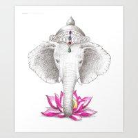 ganesh Art Prints featuring Ganesh by Tammy Liu-Haller