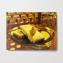 Gold investment Metal Print