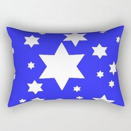 WHITE STARS ON BLUE DESIGN ART Rectangular Pillow