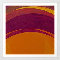 bohemian Art Prints featuring Bohemian by Orton and Ball