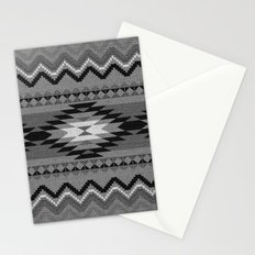 Aztec pattern black and white Stationery Cards