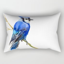 Blue Jay Rectangular Pillow