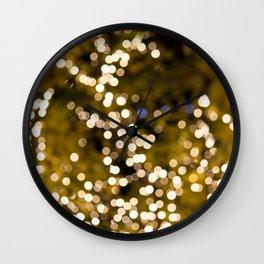 Glimmering bokeh Wall Clock