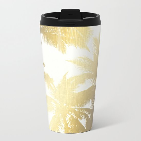 Palm tree print Metal Travel Mug