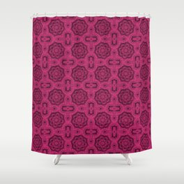 Pink Yarrow Doily Floral Shower Curtain