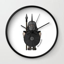Spartan warrior stylized illustration. Warrior with javelin. Wall Clock