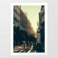 madrid Art Prints featuring Madrid by Mario Pantoja