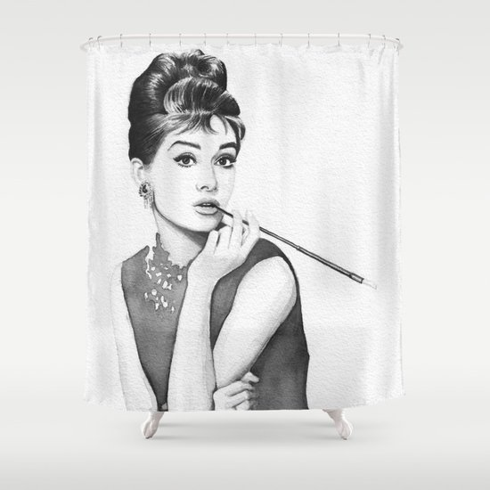 Audrey Hepburn Breakfast at Tiffanys Shower Curtain