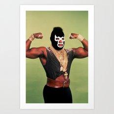 Lucha T Art Print