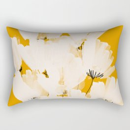Flowers In Tangerine Rectangular Pillow
