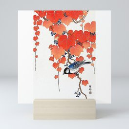 "Ohara Koson,""Bird & Red Ivy"" Mini Art Print"