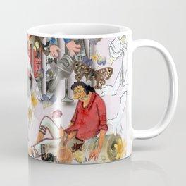 The spider is still alive. Coffee Mug