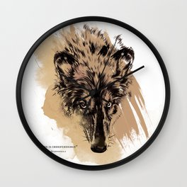 Solitude is independence Wall Clock
