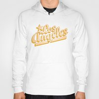 los angeles Hoodies featuring Los Angeles by GetSolidGold