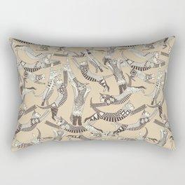 cat party beige natural Rectangular Pillow