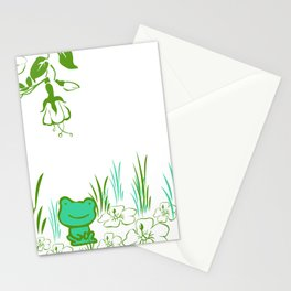 Pete the frog Stationery Cards