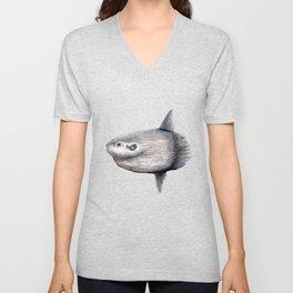 Ocean Sunfish (Mola mola) Unisex V-Neck