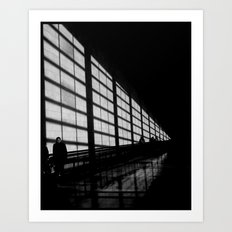 Waiting at the Airport Art Print