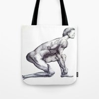 runner Tote Bags featuring Runner by Eugene G