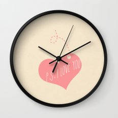 P.S. I love you Wall Clock