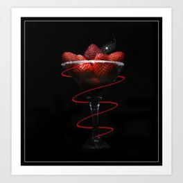 Strawberry Cocktail Art Print